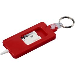 Kym tyre tread check keychain, ABS Plastic, Red