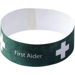 Link budget wristband, HDPE, White