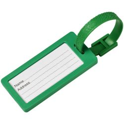 River window luggage tag, ABS Plastic, Green