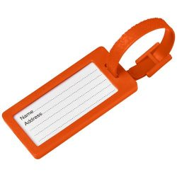 River window luggage tag, ABS Plastic, Orange