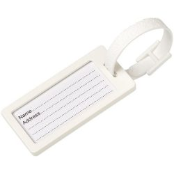 River window luggage tag, ABS Plastic, White