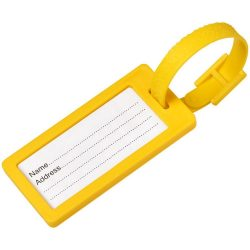 River window luggage tag, ABS Plastic, Yellow