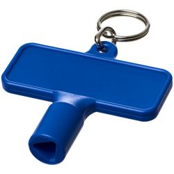 Maximilian rectangular utility key keychain , ABS Plastic, Blue