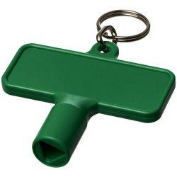 Maximilian rectangular utility key keychain , ABS Plastic, Green