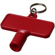 Maximilian rectangular utility key keychain , ABS Plastic, Red