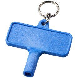 Largo plastic radiator key with keychain, ABS Plastic, Blue