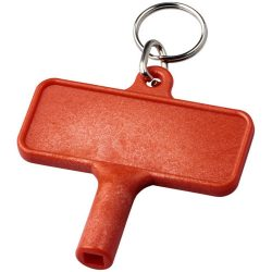 Largo plastic radiator key with keychain, ABS Plastic, Red