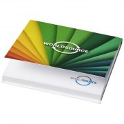 Sticky-Mate® soft cover sticky notes 75x75, Paper, White, 50