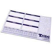 Desk-Mate® A2 notepad, Paper, cardboard, White, 50
