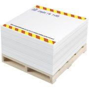 Pallet Block-Mate® 1C memo block, Paper, wood, White