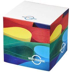 Cube memo block small, Paper, wood, White