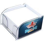 Vessel memo block insert and memo paper, Paper, GGPS Plastic, transparent clear
