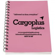 Rothko A6 notebook, Paper, polypropylene, Pink, solid black, 50
