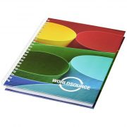 Wire-o A6 notebook hard cover, Paper, nylon, White