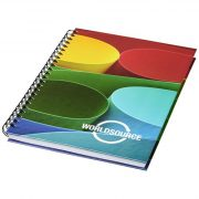 Wire-o A6 notebook hard cover, Paper, nylon, White, solid black