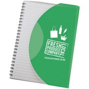 Curve A5 notebook, Paper, polypropylene, Green, solid black