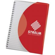 Curve A5 notebook, Paper, polypropylene, Red, solid black
