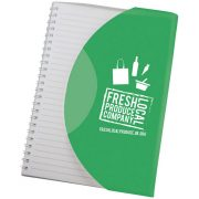 Curve A5 notebook, Paper, polypropylene, Green,White