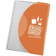 Curve A5 notebook, Paper, polypropylene, Orange,White