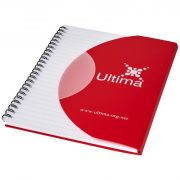 Curve A6 notebook, Paper, polypropylene, Red, solid black