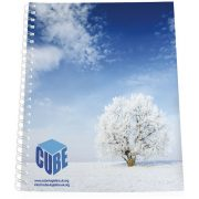 Desk-Mate® A4 notebook synthetic cover, Paper, polypropylene, White