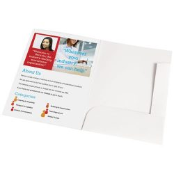 Guild A4 card document wallet, Paper, White