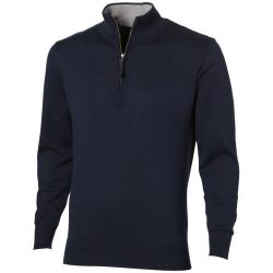 Set quarter zip pullover, Unisex, Flat knit of 100% Cotton 12 Gauge, Navy, L