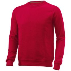 Toss crew neck sweater, Unisex, French Terry of 50% Cotton and 50% Polyester, Red, L