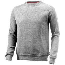 Toss crew neck sweater, Unisex, French Terry of 50% Cotton and 50% Polyester, Grey melange, M