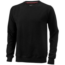 Toss crew neck sweater, Unisex, French Terry of 50% Cotton and 50% Polyester, solid black, S