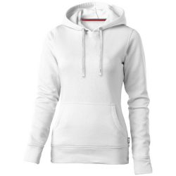 Alley hooded ladies sweater, Female, French Terry of 50% Cotton and 50% Polyester, White, S