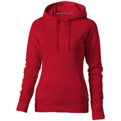 Alley hooded ladies sweater, Female, French Terry of 50% Cotton and 50% Polyester, Red, S