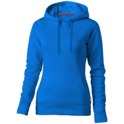 Alley hooded ladies sweater, Female, French Terry of 50% Cotton and 50% Polyester, Sky blue, XXL