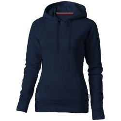 Alley hooded ladies sweater, Female, French Terry of 50% Cotton and 50% Polyester, Navy, M