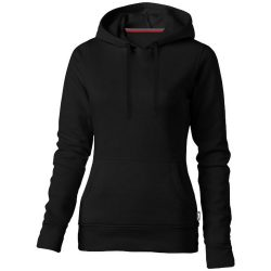 Alley hooded ladies sweater, Female, French Terry of 50% Cotton and 50% Polyester, solid black, XXL
