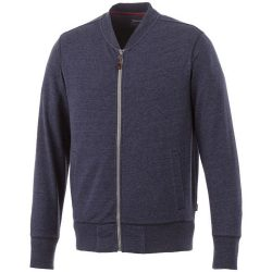 Stony track jacket, Male, Slub yarn knit of 56% Polyester, 37% Cotton and 7% Rayon with French Terry back, Navy, S
