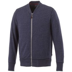Stony track jacket, Male, Slub yarn knit of 56% Polyester, 37% Cotton and 7% Rayon with French Terry back, Navy, XXS