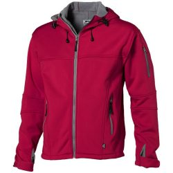 Match softshell jacket, Male, Single Jersey knit of 100% Polyester bonded with 100% Polyester micro fleece, Red, S