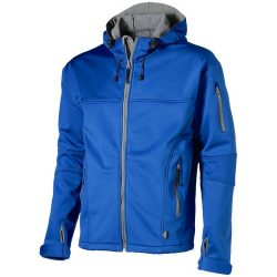 Match softshell jacket, Male, Single Jersey knit of 100% Polyester bonded with 100% Polyester micro fleece, Sky blue, M