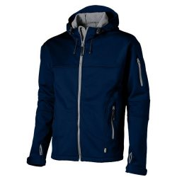 Match softshell jacket, Male, Single Jersey knit of 100% Polyester bonded with 100% Polyester micro fleece, Navy, XXL