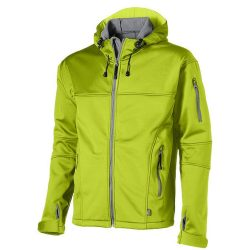 Match softshell jacket, Male, Single Jersey knit of 100% Polyester bonded with 100% Polyester micro fleece, Mid Green, L