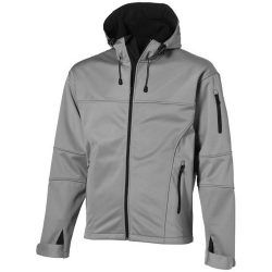 Match softshell jacket, Male, Single Jersey knit of 100% Polyester bonded with 100% Polyester micro fleece, Grey, XL