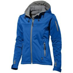 Match ladies softshell jacket, Female, Single jersey knit of 100% Polyester bonded with 100% Polyester micro fleece, Sky blue, XL