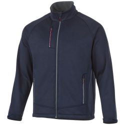 Chuck softshell jacket, Male, Single Jersey knit of 100% Polyester bonded with 100% Polyester micro fleece, Navy, L