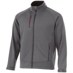Chuck softshell jacket, Male, Single Jersey knit of 100% Polyester bonded with 100% Polyester micro fleece, Grey, L