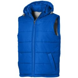 Mixed Doubles men's insulated bodywarmer, Male, Diamond check fabric of 100% Nylon with AC white coating, Sky blue, XL