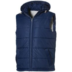 Mixed doubles bodywarmer, Male, Diamond check fabric of 100% Nylon with AC white coating, Navy, XL