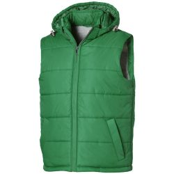 Mixed doubles bodywarmer, Male, Diamond check fabric of 100% Nylon with AC white coating, Bright green, XXL