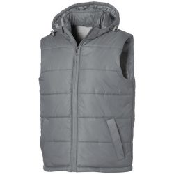 Mixed Doubles bodywarmer, Male, Diamond check fabric of 100% Nylon with AC white coating, Grey, XXL