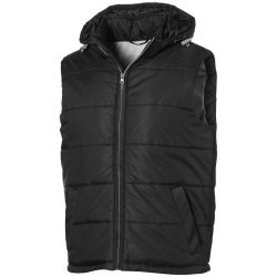 Mixed doubles bodywarmer, Male, Diamond check fabric of 100% Nylon with AC white coating, solid black, M